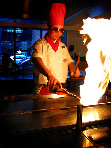 Manchester Sapporo Teppanyaki manchester Phil and Pam