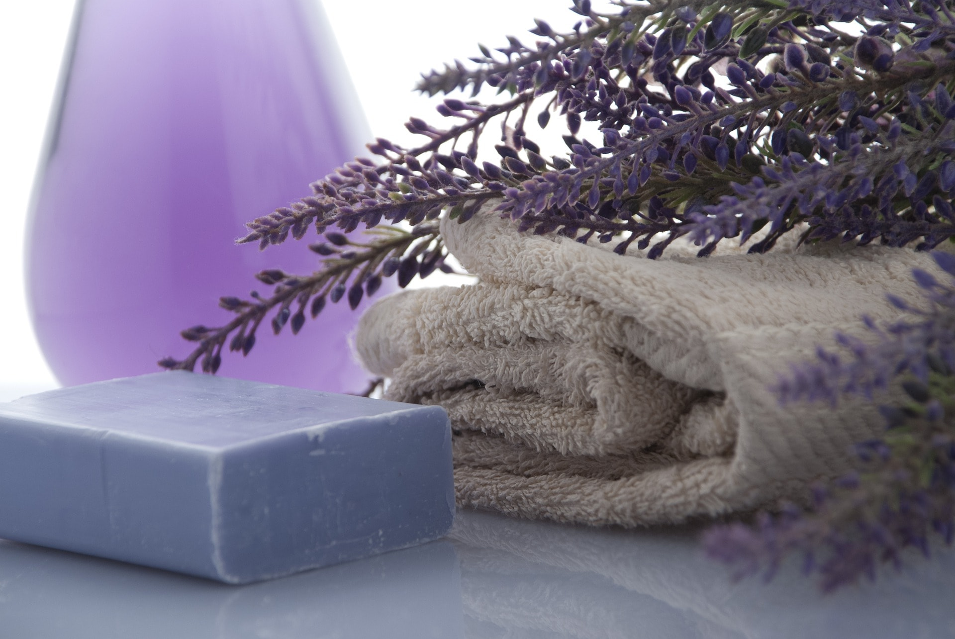 lavender soap towels