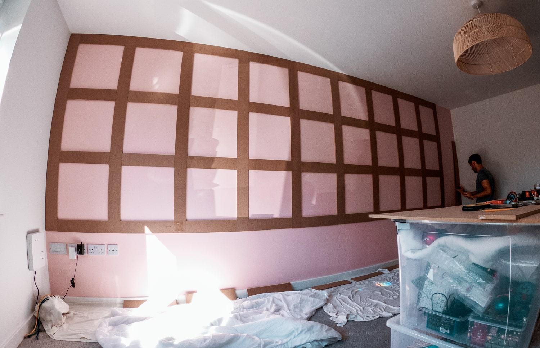 DIY wood panelling