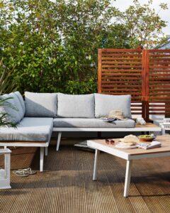 Danetti Palermo White Right Hand Garden Lounge Set